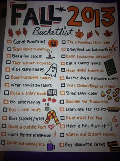 fall bucketlist | Tumblr