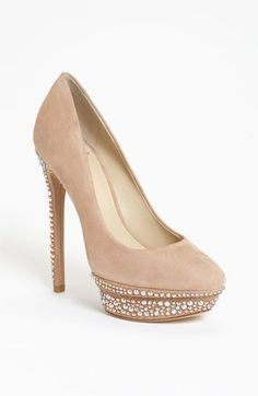 B Brian Atwood 'Francoise' Pump -- I have seen these in person and trust me, the soles are on fire. #brianatwoodheelsbeautiful #platformpumpsclassy