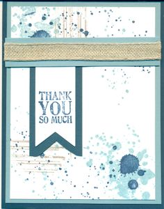 """cased from """"SweetestDesgins""""/ Used Gorgeous Grunge and Thanks A Lot stamp set. Colors are retired but need to use up my card stock. Bermuda Bay, Almost Navy Cool Cards, Diy Cards, Paint Cards, Stamping Up Cards, Cards For Friends, Pretty Cards, Card Sketches, Masculine Cards, Card Tags"""