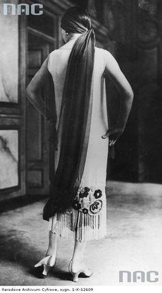 Poland. Folk style dress, 1930-37.