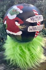 "Grinch Christmas Hand Painted Centerpiece Signed 7""x5.5 #grinch"