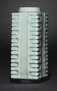 A 'Longquan' celadon cong vase, Song dynasty