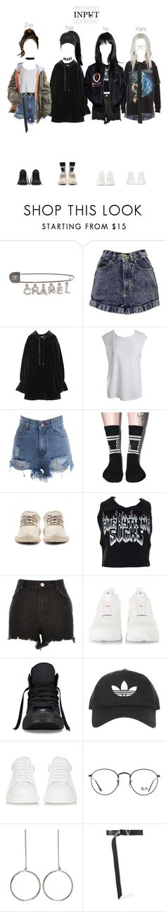 """Input 100m Views Special Dance Practice"" by npentertainment ❤ liked on Polyvore featuring Chanel, Boohoo, RtA, Sans Souci, Lazy Oaf, Kill Star, River Island, Converse, Topshop and Alexander McQueen"