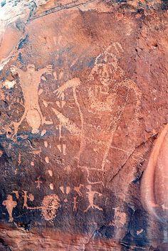 Petroglyphs, Moab, Birthing stone