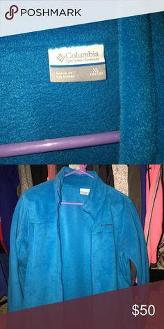 Columbia Youth XL (18-20) Fleeze zip. (Women's S) Columbia never worn zip fleeze. Size youth XL. 18-20. Can be women's 8 too. Blue Columbia Jackets & Coats
