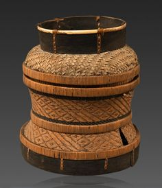 """Funge"" Basket from the Chokwe people of Angola (Lunda Province). 