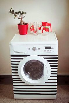 Schlafzimmer Source Home Decor Budget, Home Decor on a budget, Home Deco Washing Machine, Interior, Diy Inspiration, House Styles, Home Decor, Diy Shops, Diy Déco, Home Deco, Masking Tape