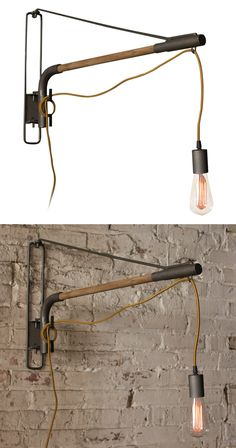 It's time to take a nonconformist approach to lighting. We chose this Kerouac Swinging Wall Lamp for its gritty character as well as its blend of cool natural materials. Blessed with a slender silhouet...  Find the Kerouac Swinging Wall Lamp, as seen in the The Cobbler's Studio Collection at http://dotandbo.com/collections/the-cobblers-studio?utm_source=pinterest&utm_medium=organic&db_sku=117473