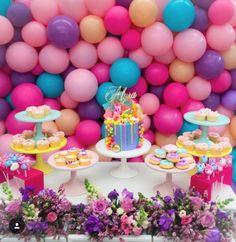 Pink, Purple, Turquoise Balloons