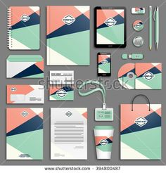Find Trendy Colorful Corporate Identity Template Set stock images in HD and millions of other royalty-free stock photos, illustrations and vectors in the Shutterstock collection. Stationary Branding, Business Stationary, Stationery Set, Business Card Design, Corporate Identity Design, Branding Design, Logo Branding, Simple Web Design, Create Business Cards