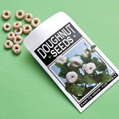 plant, prank, doughnut seed, april fools day, seed packets, funny commercials, garden, gag gifts, kid