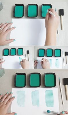Learn how easy it is to OMBRE watercolor paints