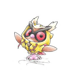 """When I grow up"" Hoothoot in a Noctowl onesie"