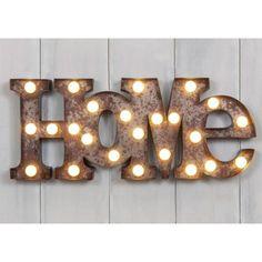 H&H... Illuminated LED Metal Carnival Home Light Rustic