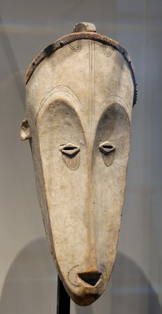 This African mask is very interesting, the nose is extremely lengthy and you can't see where the mouth is