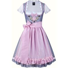 Dirndl Colette #237 ($780) ❤ liked on Polyvore featuring costumes, dresses, costume, dirndl costume, pink costume and pink halloween costumes