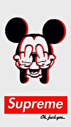 Resultado de imagen para supreme wallpaper mickey mouse