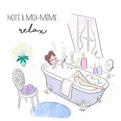 In tha Bath tub / Nella vasca da bagno - Art by Magalie Foutrier Et Quotes, Girly, Bathroom Art, Time Art, Cute Illustration, Bath Time, Cute Drawings, Doodles, Sketches