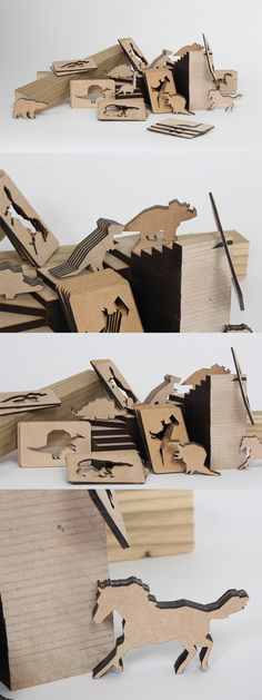 Clever Laser Cut Wooden Business Card Design