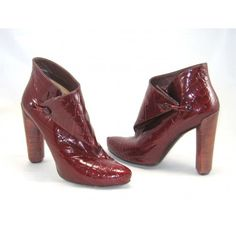 Louis Vuitton Croc Embossed Garnet Red Leather Delft Cornelia Ankle Boots Euro 38 1/2