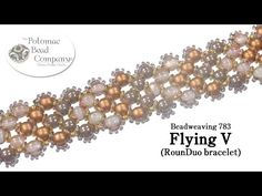 "Make a "" Flying V "" RounDuo bracelet by Allie Buchman  #Seed #Bead #Tutorials"