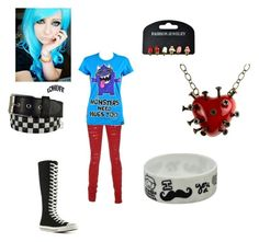 """outfit 3"" by desingingqueen29 ❤ liked on Polyvore featuring INDIE HAIR, Converse, Lowlife and Goodie Two Sleeves"
