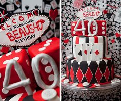 casino party ideas | Las Vegas Style Casino 40th Birthday Party // Hostess with the Mostess ...