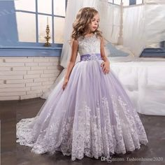 Purple And Lilac Tulle Princess Flower Girls Dresses For Weddings Crew Neck Sequined Applique Pageant Dress For Girls First Communion Dress Black And White Flower Girl Dress Bridesmaid And Flower Girl Dresses From Fashionhouse2020, $75.38| Dhgate.Com
