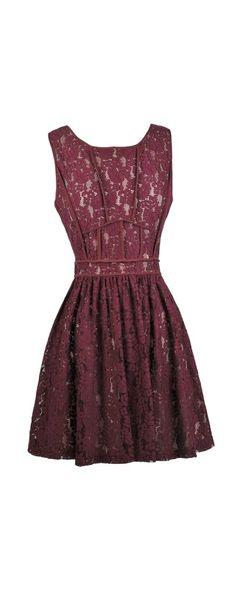 Lily Boutique Fine As Wine Burgundy Lace Dress, $60 Wine Lace Dress, Burgundy Lace Dress, Cute Lace Dress, Wine Red Bridesmaid Dress www.lilyboutique.com