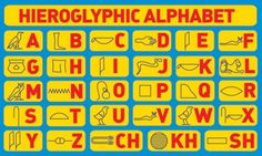 Join us here at Nat Geo Kids to discover fascinating facts about hieroglyphics. Discover the Egyptian symbols, what they mean and even spell your own name! Symbols And Meanings, Mayan Symbols, Viking Symbols, Egyptian Symbols, Ancient Symbols, Ancient Egypt, Ancient History, Art History, Viking Runes