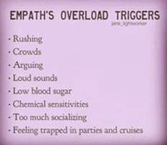 Crowds, feeling trapped, too much socializing, loud sounds. Empath Traits, Intuitive Empath, Psychic Empath, Highly Sensitive Person, Sensitive People, This Is Your Life, Way Of Life, Infp, Reiki