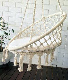 COMING SOON crochet hanging chair bohemian boho chic rustic comfort chair home decoration bohemian home crochet hammock baby room Macrame Hanging Chair, Macrame Chairs, Diy Hanging, Hanging Chairs, Hanging Furniture, Bohemian Furniture, Plywood Furniture, Diy Furniture, Bohemian Interior