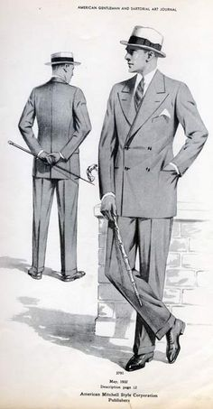 1930-1939 men outfit