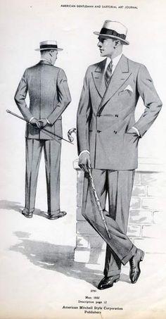 1930-1939 men outfit