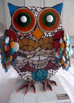 Owl  Mosaico por Liliana Waisman