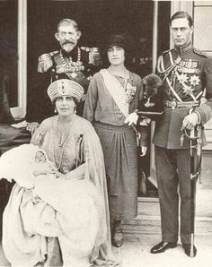 Queen Marie of Romania holding her grandson, the future King Peter II of Yugoslavia, her husband Ferdinand of Romania, with the then Duke and Duchess of York Michael I Of Romania, Romanian Royal Family, Queen Victoria Family, Adele, Royal Blood, Duchess Of York, British Royal Families, British Monarchy, Queen Mary