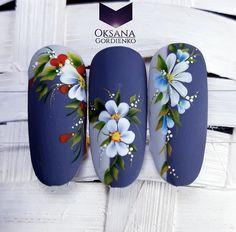 Flower Nail Designs, Acrylic Nail Designs, Nail Art Designs, Nail Manicure, Gel Nails, Acrylic Nails, Xmas Nails, Christmas Nails, Spring Nails