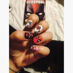 Deadpool Nail Art