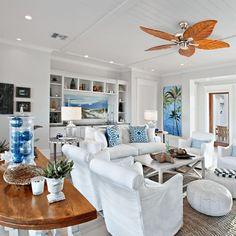 Modern Coastal Home Design Diy - Modern home design ideas Beach Living Room, Beach Bedroom Decor, Coastal Living Rooms, Beach House Decor, Home Living Room, Chic Beach House, Beach House Furniture, Bedroom Rustic, Coastal Homes