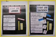 Here are two nice anchor charts for double-digit addition and subtraction. Downloads available!