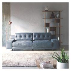 HENDRICKS Dark grey luxury leather 2 seater sofa | Buy now at Habitat UK