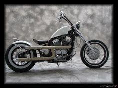 Classic Bobber Motorcycle with Apr Hanger Handlebars Honda Bobber, Honda Shadow Bobber, Bobber Bikes, Bobber Motorcycle, Bobber Chopper, Harley Davidson Chopper, Harley Davidson Motorcycles, Bobbers, Honda Steed