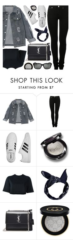 """Casual Wednesday"" by monmondefou ❤ liked on Polyvore featuring MM6 Maison Margiela, adidas, NIKE, Boohoo, Yves Saint Laurent, Gucci, Burberry, casual, black and denimjackets"