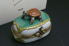 boite-pilulier-Limoges-creation-Fanex-France-tortue-turtle