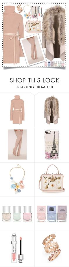 """pastel sweater dress contest"" by teto000 ❤ liked on Polyvore featuring Valentino, Casetify, Mixit, Dolce&Gabbana, Nails Inc., Christian Dior and Tory Burch"