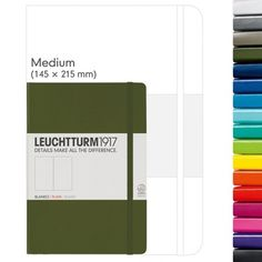 Leuchtturm Medium Notebook dotted / puntjes - Nordic Blue / Azure / Emerald / Berry / Royal Blue