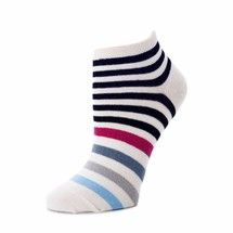 Sadie ankle socks in dark stripes by zkano. Made from organic cotton