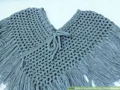 Image titled Double Crochet a Child's Poncho Step 1
