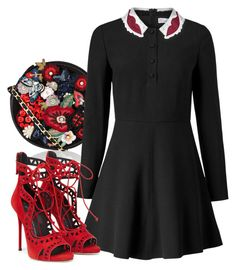 """""""amas"""" by dayanamadness ❤ liked on Polyvore featuring Accessorize and RED Valentino"""