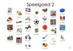 speelgoed, afkijkplaat 2 Learn Dutch, Dutch Language, Preschool, Teacher, Letters, Learning, Logos, Poster, Kids